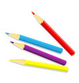 isolated of color pencil vector image vector image