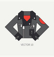 line flat color icon wear - leather jackets vector image vector image