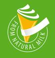 logo ice cream made of natural milk vector image