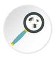 Magnifier and insects icon flat style vector image vector image
