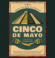 mexican holiday banner for cinco de mayo party vector image vector image