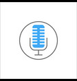 microphone solid icon mobile sign and sound vector image vector image