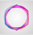 neon stylized guilloche element circle bright vector image vector image