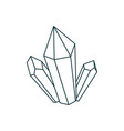 outline crystal icon magical gem isolate drawing vector image