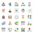 pack of project management flat icons vector image