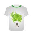 Printable tshirt graphic- Spring tree vector image vector image