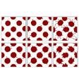 realistic blood splatters pattern set vector image vector image