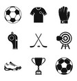 referee icons set simple style vector image vector image