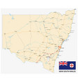 road map australian state new south wales vector image vector image
