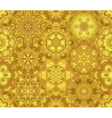 Seamless luminous gold pattern vector image