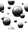 seamless pattern with black marble balls vector image vector image
