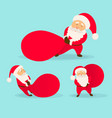 set of christmas santa claus vector image vector image