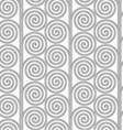 Slim gray striped spirals forming tree vector image