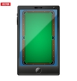 smartphone with a billiard field on screen vector image vector image