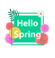 spring background with beautiful colorful flower vector image vector image