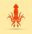 squid colored isolated vector image vector image