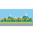 trees forest field landscape vector image vector image