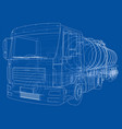 truck with tank concept vector image vector image