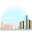 urban landscape with buildings vector image vector image