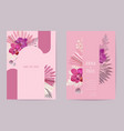 wedding watercolor floral card dry tropic vector image vector image