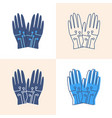 wired gloves icon set in flat and line style vector image vector image