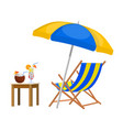 wooden chaise lounge vector image