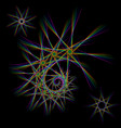 set of lines and fractals vector image