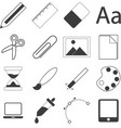 set of simple stationery and business icons vector image