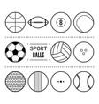 sports balls for football basketball tennis vector image