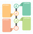 text box with line business strategy diagram vector image