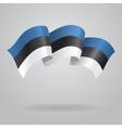 Estonian waving Flag vector image