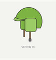line flat color military icon - army helmet vector image