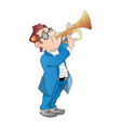 a man blowing trumpet vector image
