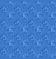 abstract geometrical blue square pattern vector image vector image