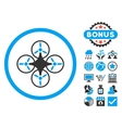 Air Drone Flat Icon with Bonus vector image vector image