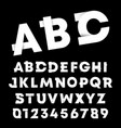 Alphabet font template letters and numbers