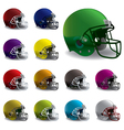American Football Helmets vector image vector image
