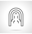 Architectural arcade simple line icon vector image vector image
