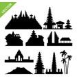 bali indonesia landmark silhouettes vector image vector image