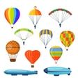 Ballon aerostat transport set vector image vector image