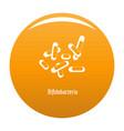 bifidobacteria icon orange vector image vector image