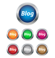 Blog buttons vector image vector image