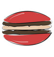 burger hand drawn design on white background vector image