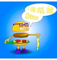 burger say i do not like cheese vector image vector image