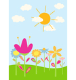 cartoon flowers vector image vector image