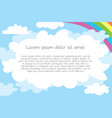 childrens template for advertising brochure vector image