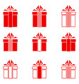 christmas gifts icons set vector image vector image