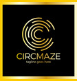 circle maze logo - letter c vector image vector image
