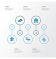 climate colorful icons set collection of wind vector image vector image