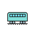 coach on rails train wagon subway flat color vector image